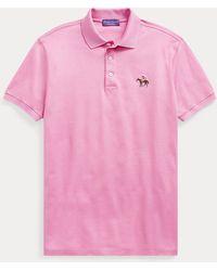 Ralph Lauren Purple Label Polo in piqué Custom Slim-Fit - Rosa
