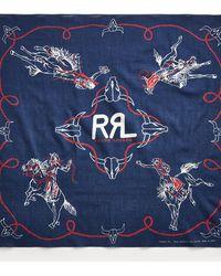 RRL Bandana in cotone con rodeo - Blu