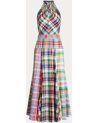 Polo Ralph Lauren Cotton Madras Halter Dress - Multicolour
