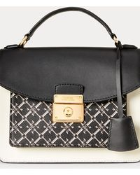 Ralph Lauren Tasche aus Saffianleder - Schwarz