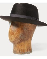 RRL Wool Felt Fedora - Brown