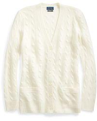 Ralph Lauren Cable-knit Cashmere Cardigan - Natural