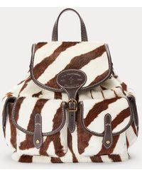 Polo Ralph Lauren Zebra Haircalf Drawstring Backpack - Multicolour