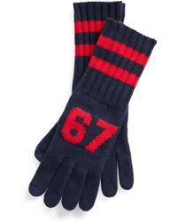Polo Ralph Lauren Rl67 Wool-blend Gloves - Blue