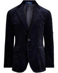 Polo Ralph Lauren Polo-Anzugsjacke aus Kordsamt - Blau