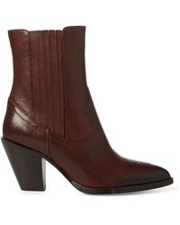 Polo Ralph Lauren Lowrey Leather Cowboy Boot - Brown