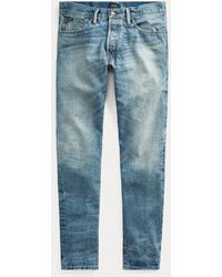 Polo Ralph Lauren Verblasste Slim-Fit Jeans Sullivan - Blau