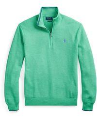 Polo Ralph Lauren Cotton Half-Zip Jumper - Grün