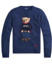 Polo Ralph Lauren - Polo Bear Cotton-blend Jumper - Lyst