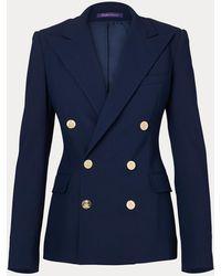 Ralph Lauren Collection Veste Camden en crêpe de laine - Bleu