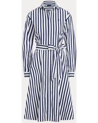 Polo Ralph Lauren - Gestreiftes Hemdkleid aus Baumwolle - Lyst
