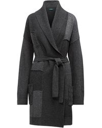 Ralph Lauren Patchwork Wool-blend Cardigan - Gray