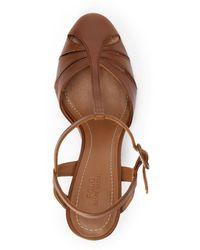 Ralph Lauren Vachetta Leather Closed-toe Sandal - Brown