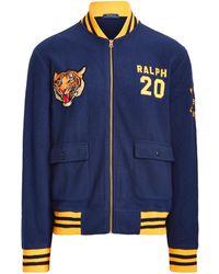 Ralph Lauren Polo Tiger Fleece Bomber Jacket - Blue