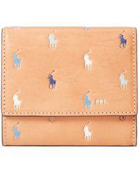 Ralph Lauren Leather Pony Compact Wallet - Multicolor