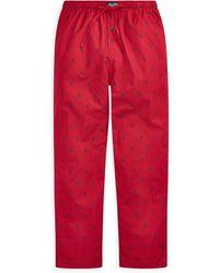 Polo Ralph Lauren Pantalon de pyjama en coton - Rouge