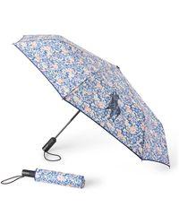 Ralph Lauren Shirley Collapsible Umbrella - Blue