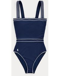 Polo Ralph Lauren Ribbed Racerback One-piece - Blue