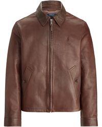 Ralph Lauren Lambskin Leather Jacket - Brown