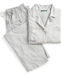 Ralph Lauren - Cotton Jersey Pajama Set - Lyst
