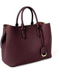 Ralph Lauren Leather Large Marcy Satchel - Multicolor