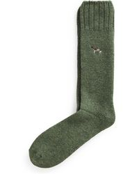 Ralph Lauren Pointer Dog Wool-blend Boot Socks - Green