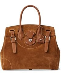 Ralph Lauren Calf-suede Light Ricky 33 - Brown