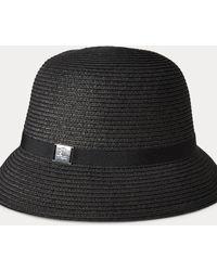 Ralph Lauren Paper Cloche Hat - Black