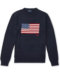 Polo Ralph Lauren The Iconic Flag Sweater - Blue