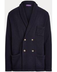 Ralph Lauren Purple Label Cardigan in cashmere - Blu