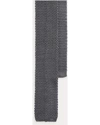 Ralph Lauren Purple Label Cravate en maille de soie - Gris