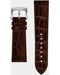 Ralph Lauren Bracelet sport en alligator 23x20 - Marron