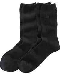 Ralph Lauren   Cable-knit Trouser Sock 2-pack   Lyst