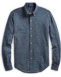 Polo Ralph Lauren Chemise en piqué à motif fleuri - Bleu
