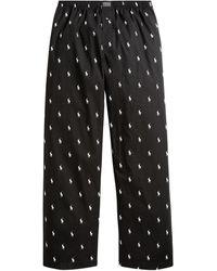 Ralph Lauren Allover Pony Pajama Pant - Black