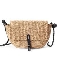 0087588d29 Polo Ralph Lauren Fringe Leather Crossbody Bag in Black - Lyst