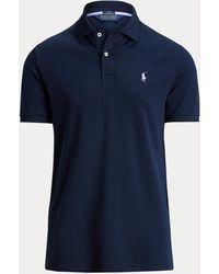 Ralph Lauren Ralph Lauren Custom Slim Fit Performance Polo Shirt - Blue