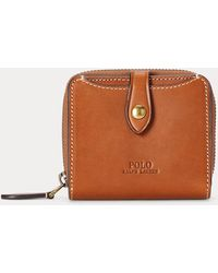 Polo Ralph Lauren Vachetta Leather Compact Wallet - Brown