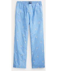 Polo Ralph Lauren Pantaloni da pigiama Polo Bear a righe - Blu