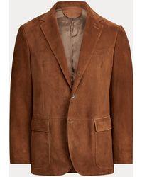 Polo Ralph Lauren Veste de costume Polo en daim - Marron