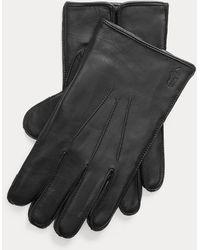 Polo Ralph Lauren Wasserabweisende Touch-Lederhandschuhe - Schwarz