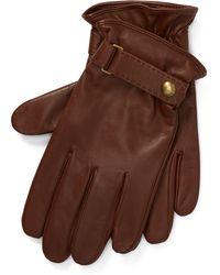 Polo Ralph Lauren - Gants tactiles en cuir nappa - Lyst