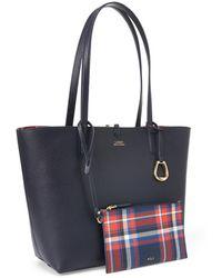Ralph Lauren Faux-leather Reversible Tote - Blue
