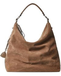 Ralph Lauren Collection Ralph Lauren Suede Large Bridle Bag - Brown