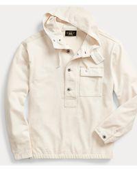 RRL Sweat à capuche jersey de coton - Blanc