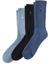 78a6393b3babc Lyst - Polo Ralph Lauren Stretch Trouser Sock Set in Blue for Men