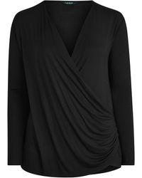 Ralph Lauren Wrap-front Top - Black