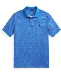 Ralph Lauren Floral-print Soft Cotton Polo Shirt - Blue