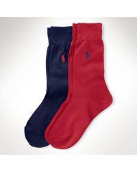 Polo Ralph Lauren 2 Paar Socken aus Baumwollstretch - Blau