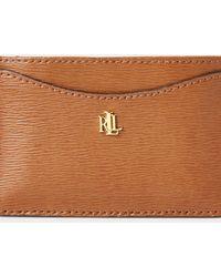 Ralph Lauren Saffiano Leather Card Case - Brown